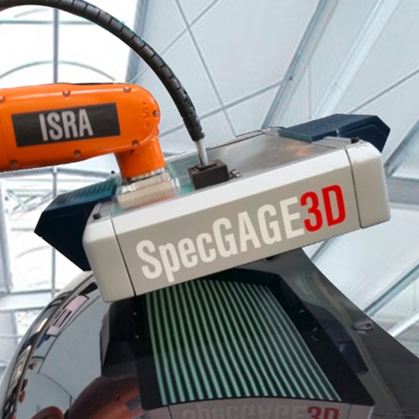 Reliable detection of surface defects on reflective objects with SpecGAGE3D-robot mounted